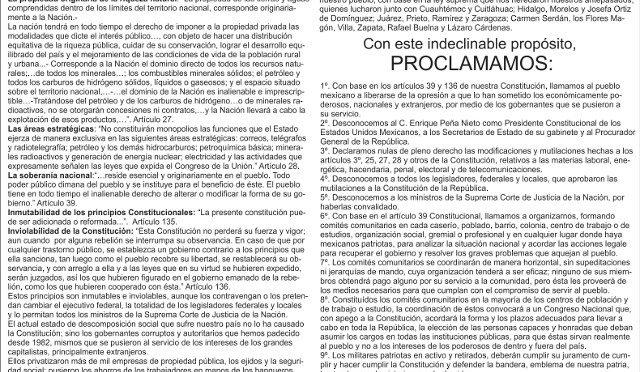 SI EL GOBIERNO DESACATA LA CONSTITUCIÓN, NOSOTROS DESCONOCEMOS AL GOBIERNO.