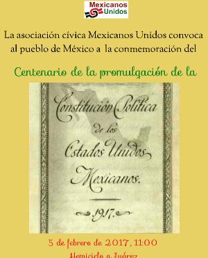 Memoria del 5 de febrero, centenario de la Constitución