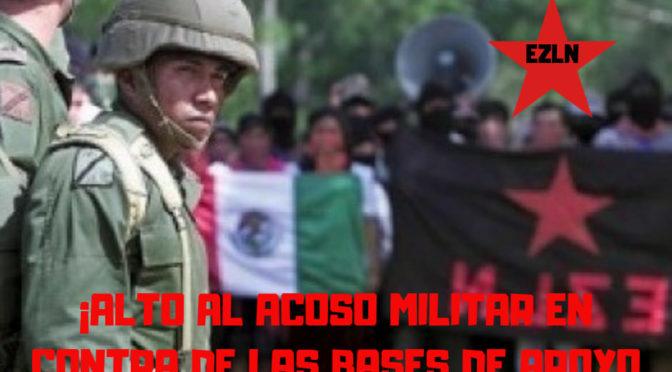 Exigimos la salida de la Guardia Nacional de los territorios comunitarios