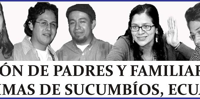 Postura de la Asociación de Padres y Familiares de las Víctimas de Sucumbíos ante la detención de Uribe