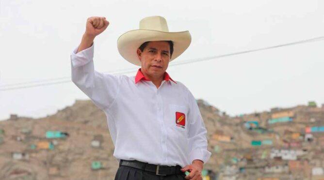 Saludamos el triunfo electoral del maestro Pedro Castillo Terrones en Perú