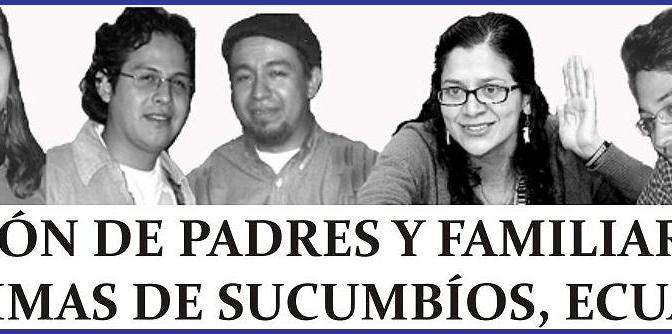 Boletín de Prensa de la Asociación de Padres y Familiares de las Víctimas de Sucumbíos